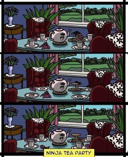 Ninja tea party :D
